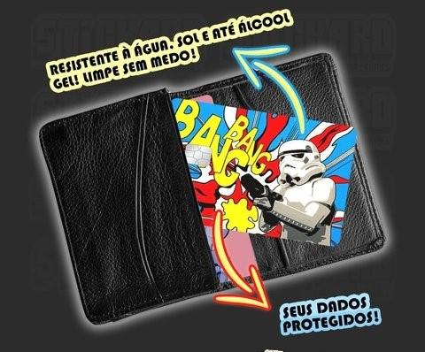 """Película Adesiva Geek Cartão de Crédito e Débito Passa no Crédito """"Fodase"""" Bob Esponja SpongeBob SquarePants  - EV"""