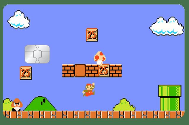 Película Adesiva Geek Cartão de Crédito e Débito Super Mario Bros. 8 Bits Clássico - EV