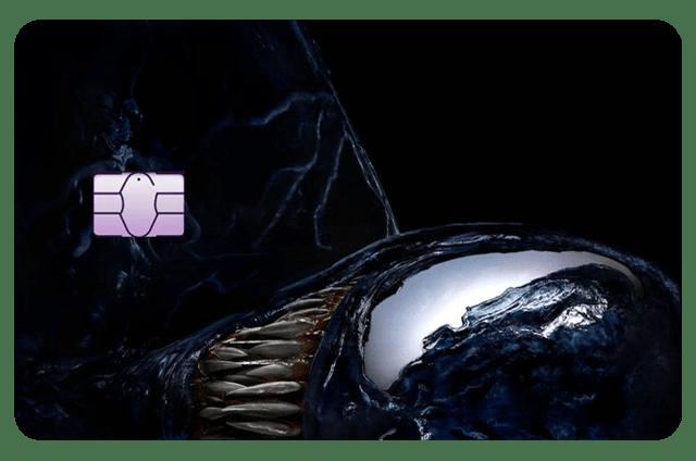 Película Adesiva Geek Cartão de Crédito e Débito Venom Simbionte Marvel - EV