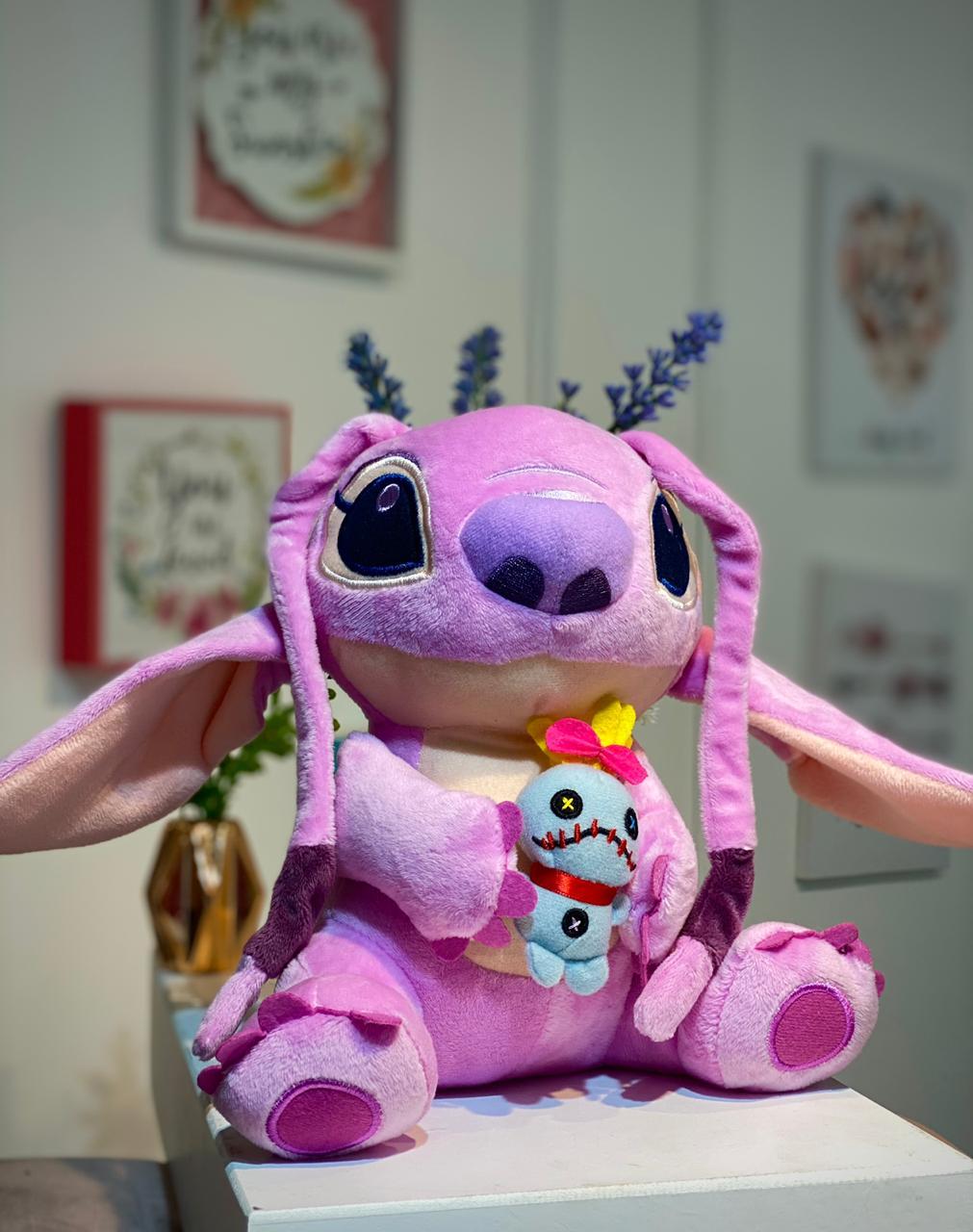 Pelúcia Angel Com Boneca de Pano:Lilo e Stitch - Disney (25cm)