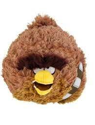 Pelúcia Angry Birds Chewbacca: Star Wars (11cm) - DTC
