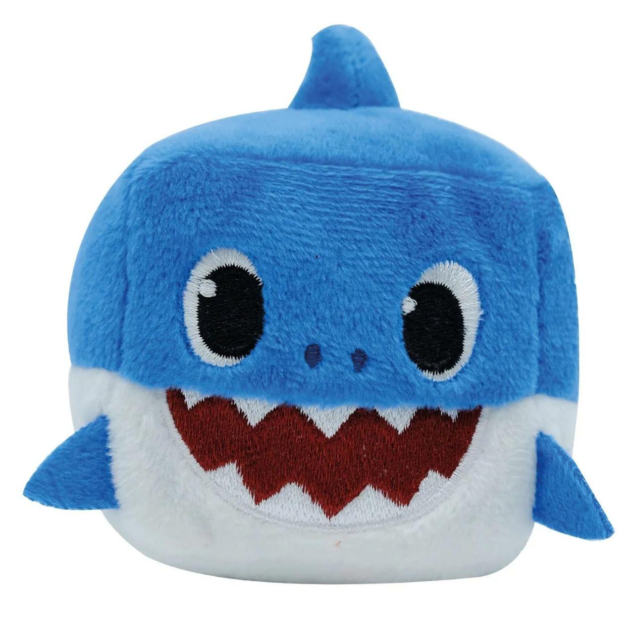 Pelúcia Baby Shark Cubo Musical (Daddy Azul) - Pinkfong - Toyng