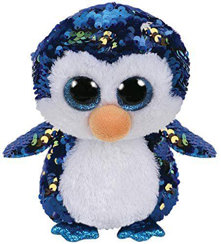 Pelúcia Beanie Boos Paetês (Flippables): Pinguim (Payton) - DTC