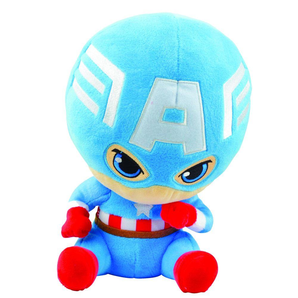 Pelúcia Capitão América (Captain America): Vingadores (Avengers) Marvel - DTC