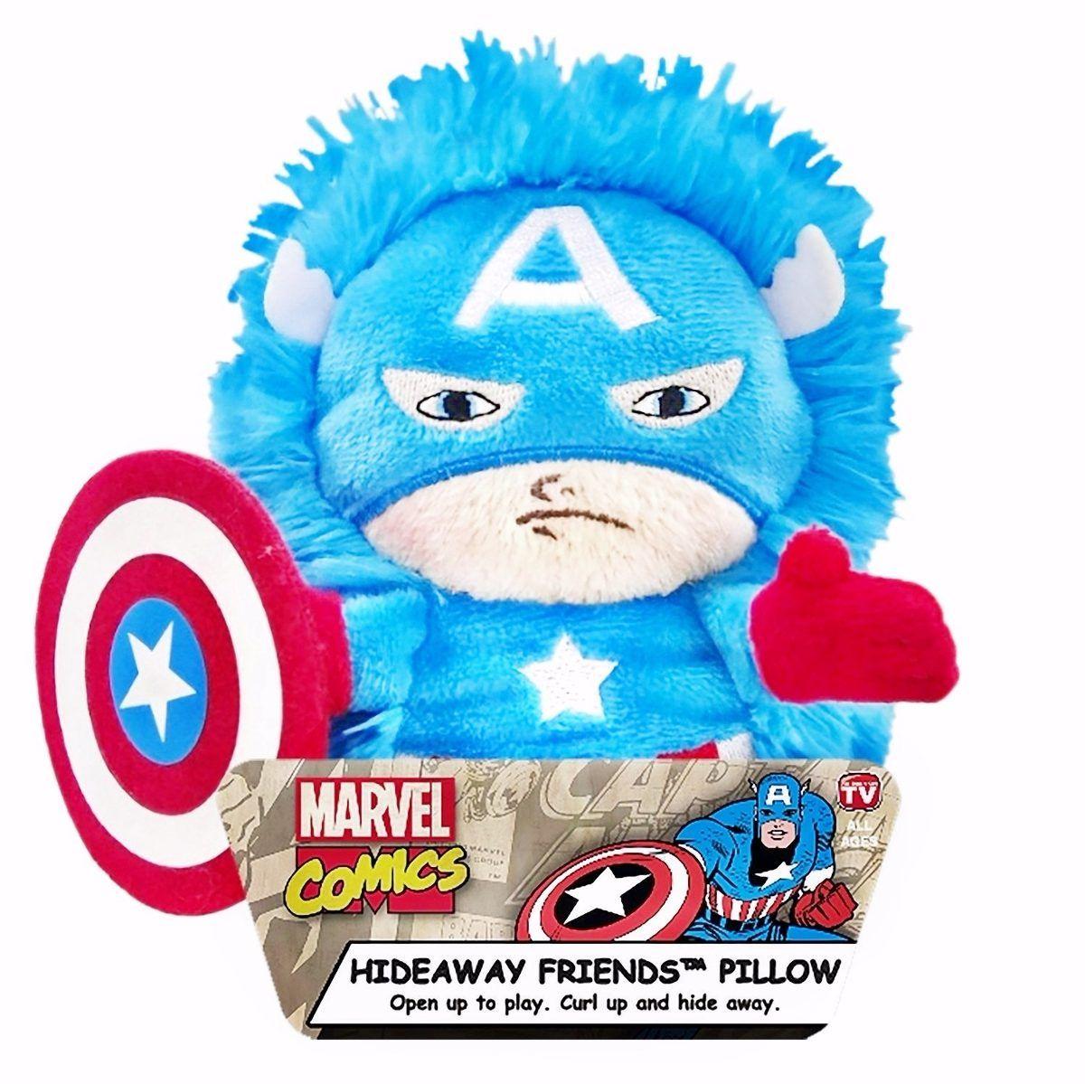 Pelúcia Capitão América: Marvel (Hideaway Pets Pillow) - DTC