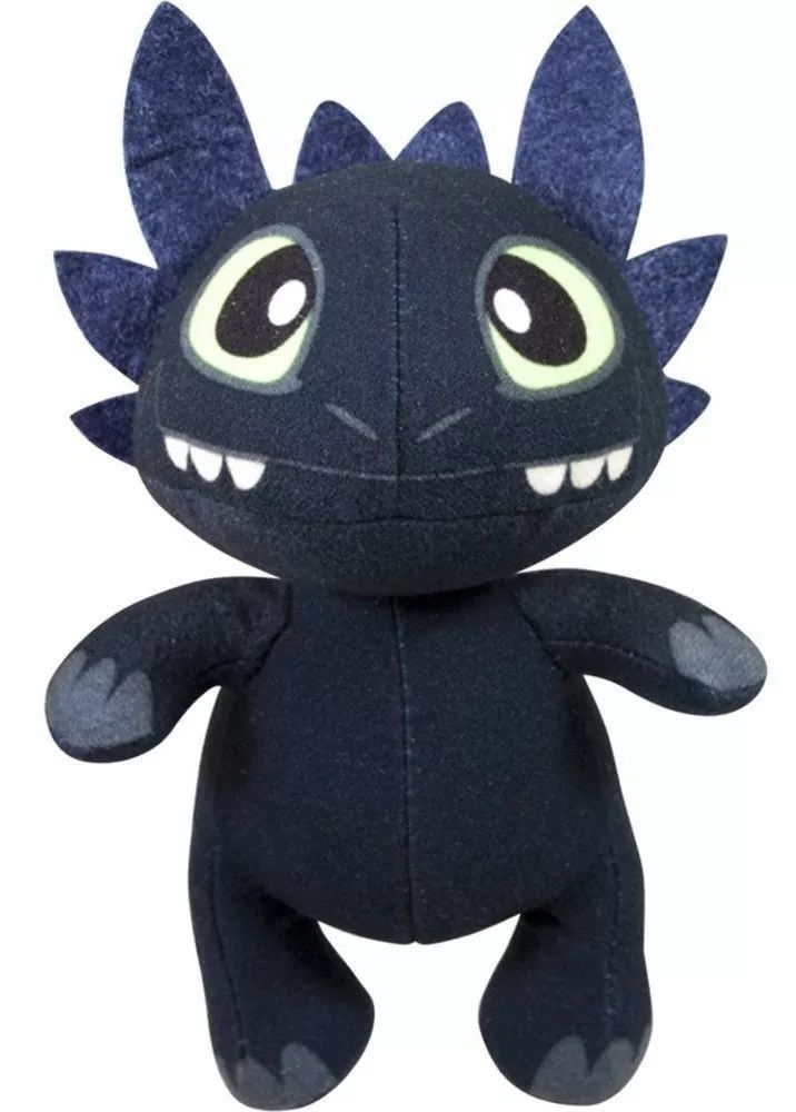 Pelúcia Chaveiro Banguela (Toothless): Como Treinar seu Dragão (How to Train Your Dragon)