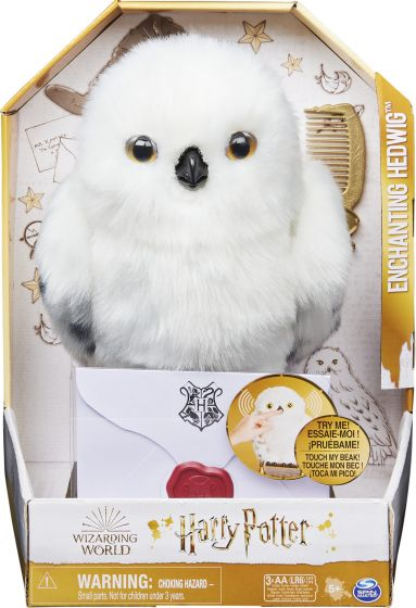 Pelúcia Coruja Encantada Edwiges Enchanting Hedwig com Som: Harry Potter - Sunny