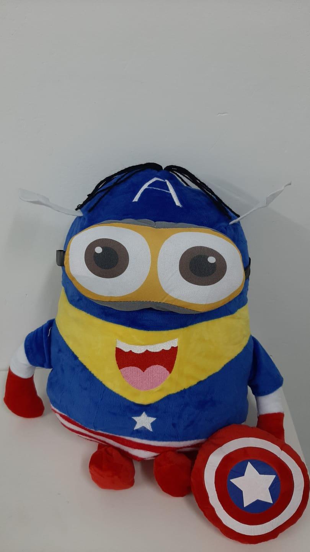 Pelúcia Dave Capitão América: Minions - Pequena 35cm