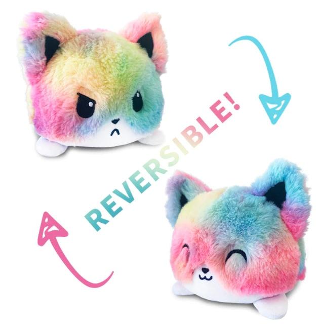 Pelúcia do Humor Polvo Gato Flip Reversível Colorido Kawaii Brinquedo Tik Tok 20cm - EV