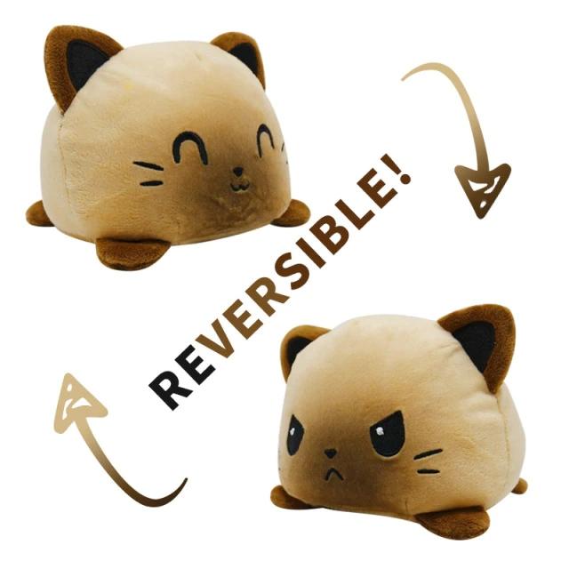 Pelúcia do Humor Polvo - Gato Flip Reversível Marrom Kawaii Brinquedo Tik Tok 20cm - EV