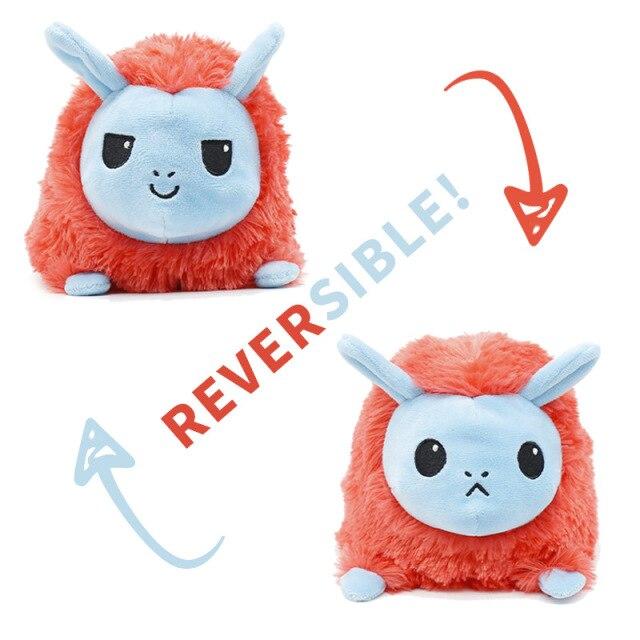 Pelúcia do Humor Ovelha Flip Reversível Azul e Vermelha Kawaii Brinquedo Tik Tok 20cm - EV