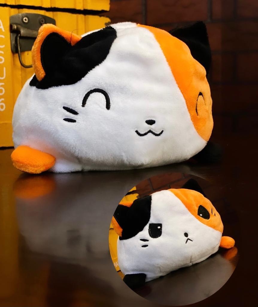 Pelúcia do Humor Polvo Gato Flip Reversível Mesclado Kawaii Brinquedo Tik Tok 20cm - EV