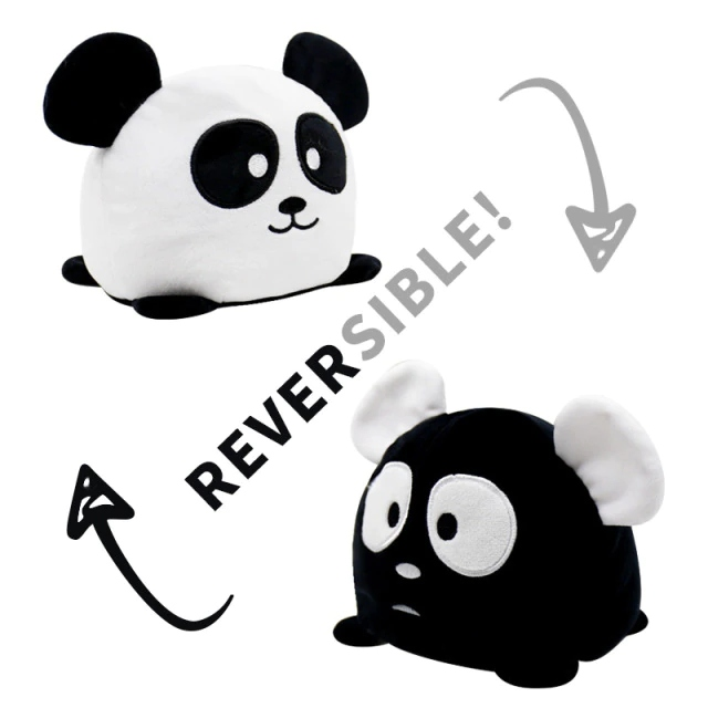 Pelúcia do Humor Polvo Rato Unicórnio Flip Reversível Preto e Branco Kawaii Brinquedo Tik Tok 20cm - EV