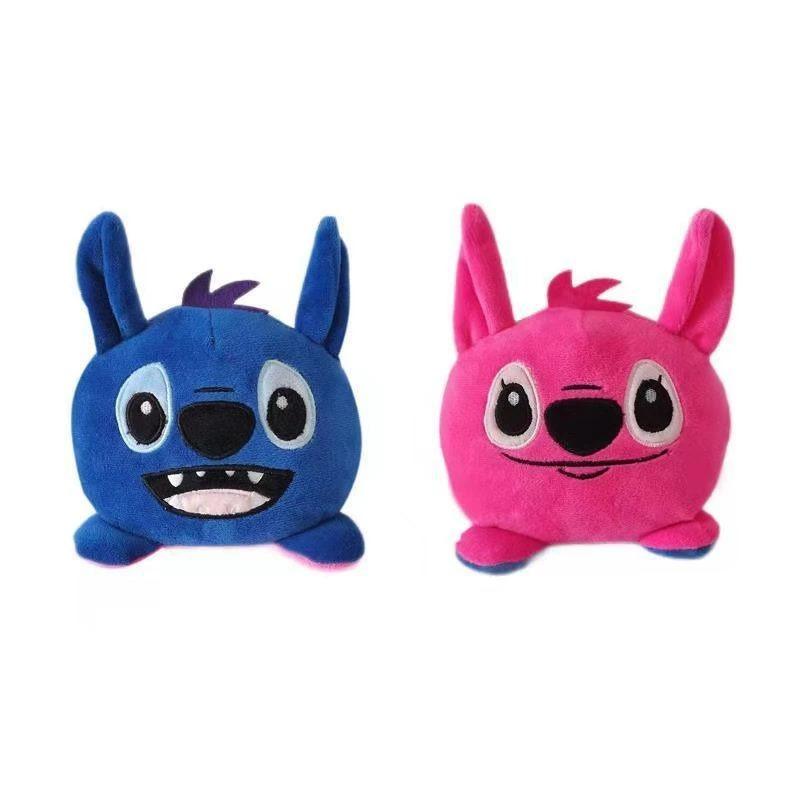 Pelúcia Do Humor Stitch Angel Reversivel: Disney Kawaii Brinquedo Tik Tok 20cm