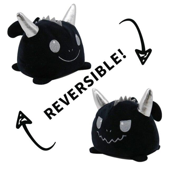 Pelúcia do Humor Polvo Unicórnio Gato Rock Flip Reversível Preto Kawaii Brinquedo Tik Tok 20cm - EV