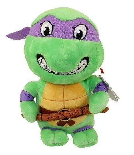 Pelúcia Donatello: Tartarugas Ninja (Ty Beanies) - DTC