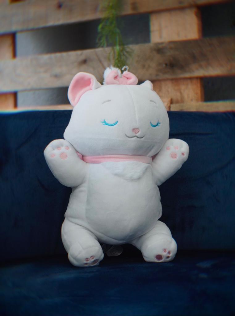 Pelúcia Gata Marie (Cuddleez): Aristogatas (The Aristocats) Disney 30cm