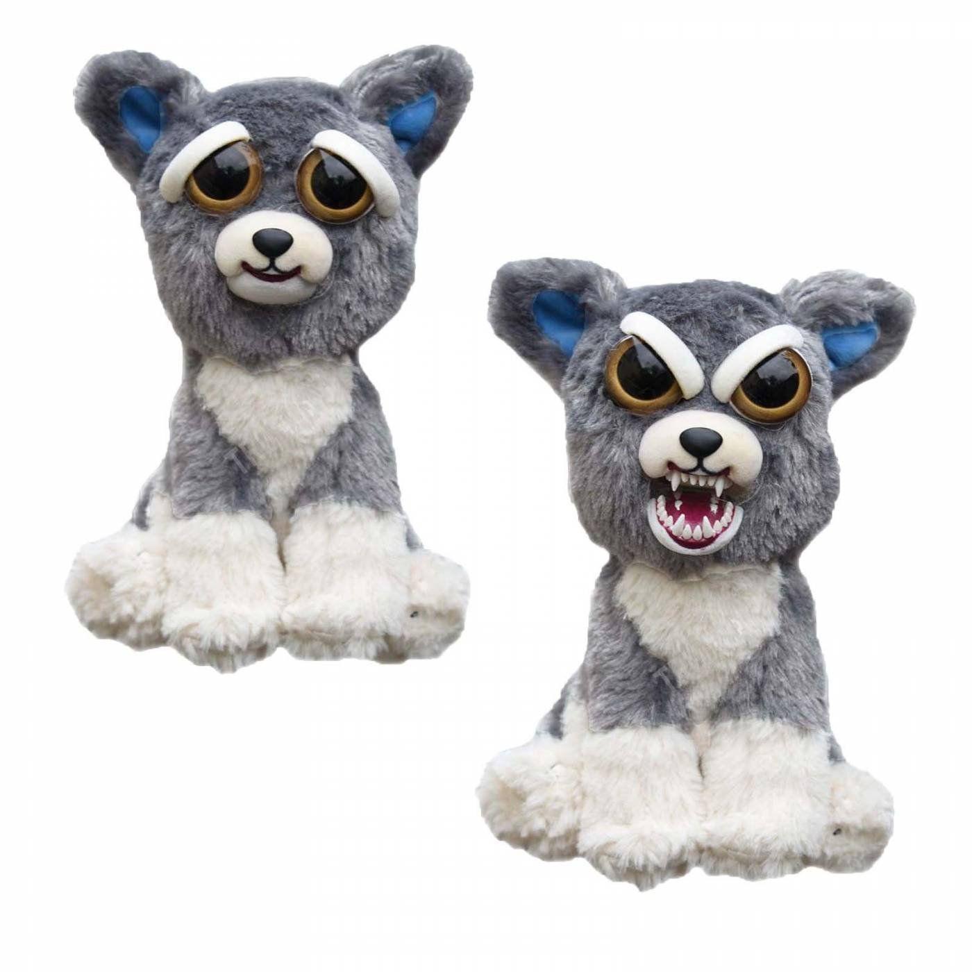 Pelúcia Gato Cinza (Paco Pancada): Feisty Pets (Bonzinho/Malzinho)