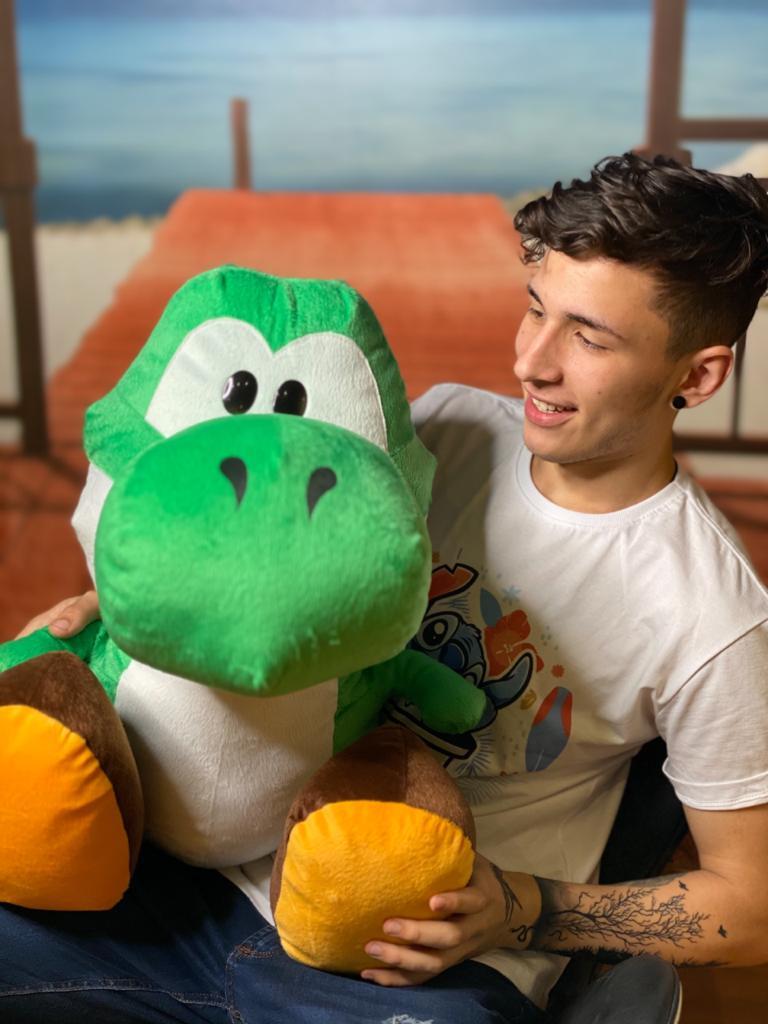 Pelúcia Grande Yoshi: Super Mario Bros 2