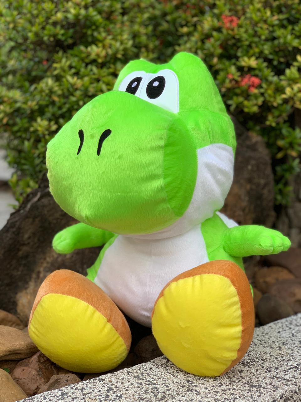 Pelúcia Grande Yoshi: Super Mario Bros