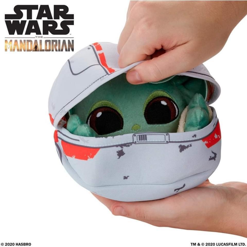 PRÉ VENDA: Pelúcia Grogu Baby Yoda The Child: The Mandalorian O Mandaloriano Star Wars Hideaway Hover-Pram Plush - Hasbro