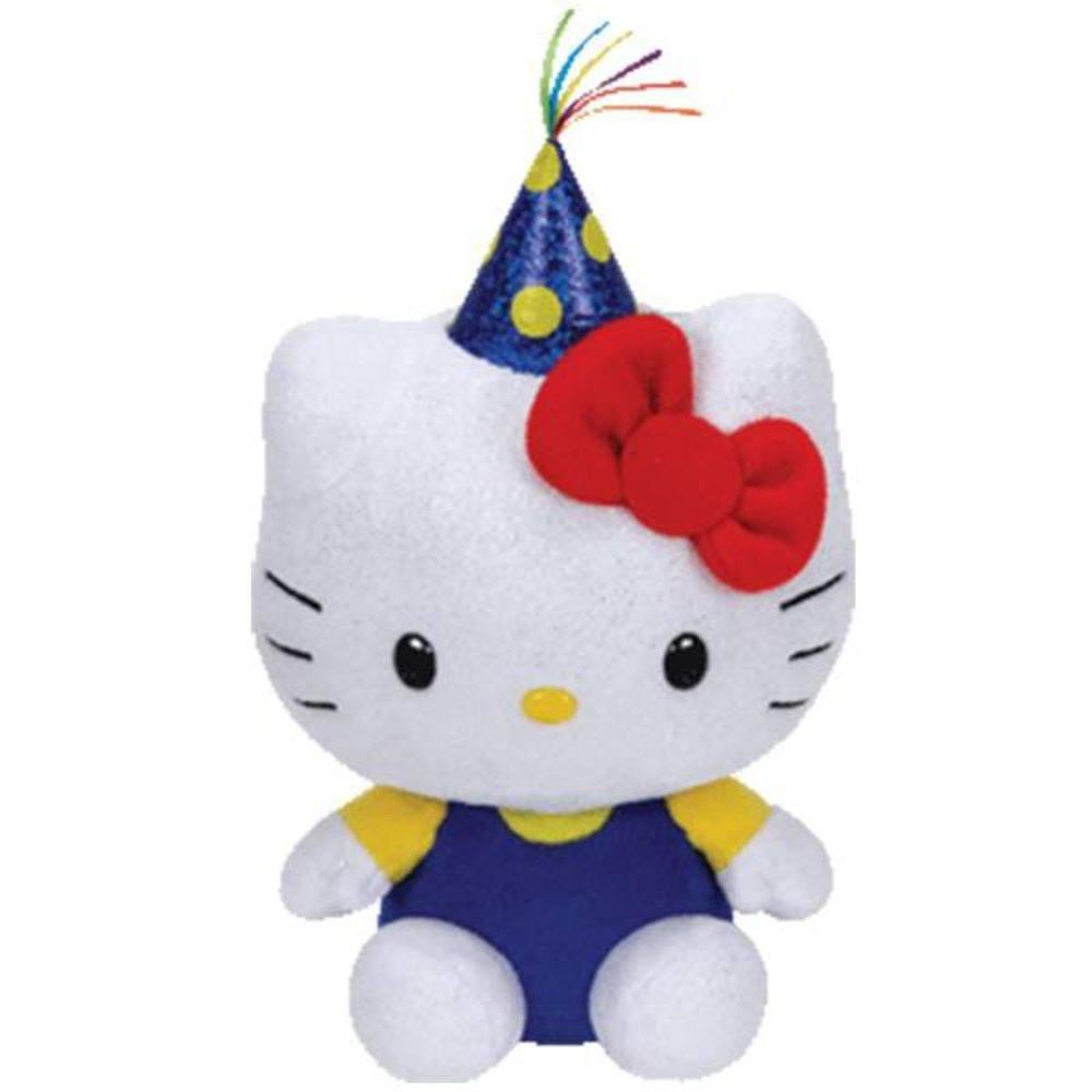 Pelúcia Hello Kitty (Aniversário): Hello Kitty (Ty Beanies) (15cm) - DTC