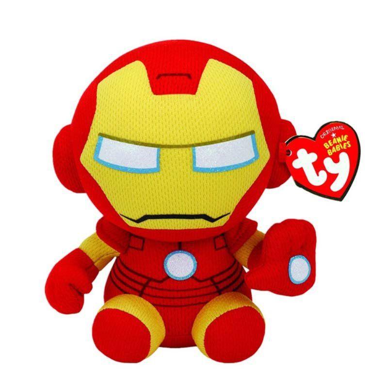 Pelúcia Homem de Ferro (Iron Man): Marvel (Ty Beanies) - DTC