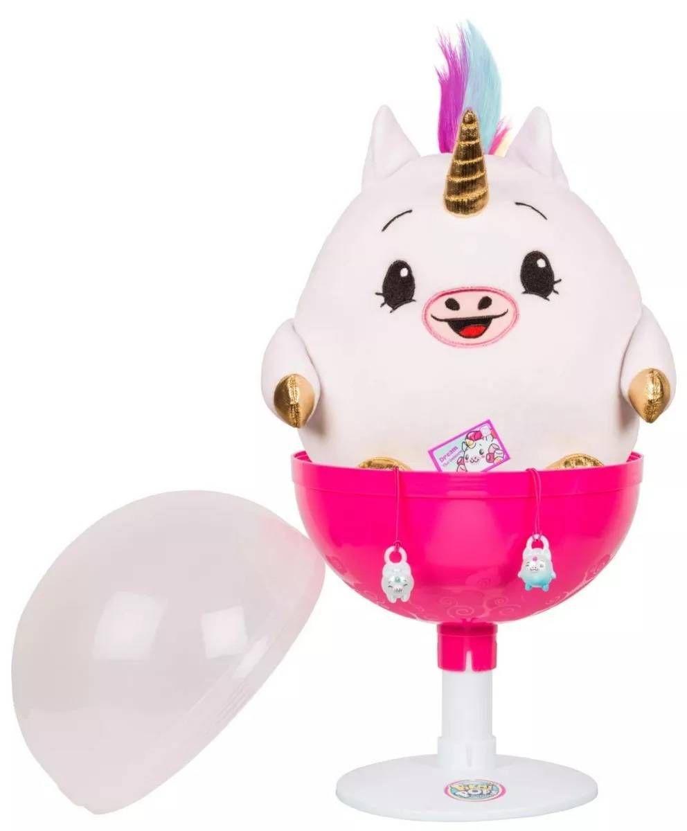Pélucia Jumbo: Dream o Unicórnio Elástico - Pinkmi Pops Surpresa - DTC