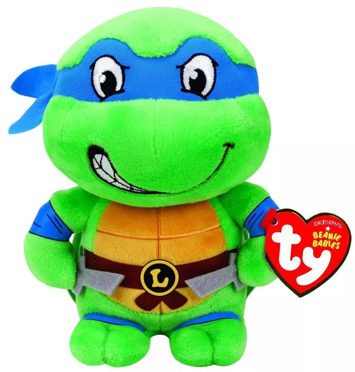 Pelúcia Leonardo: Tartarugas Ninja (Ty Beanies) - DTC