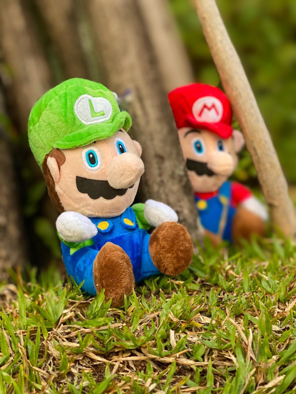 Pelúcia Luigi com Som: Super Mario Bros - Pequeno