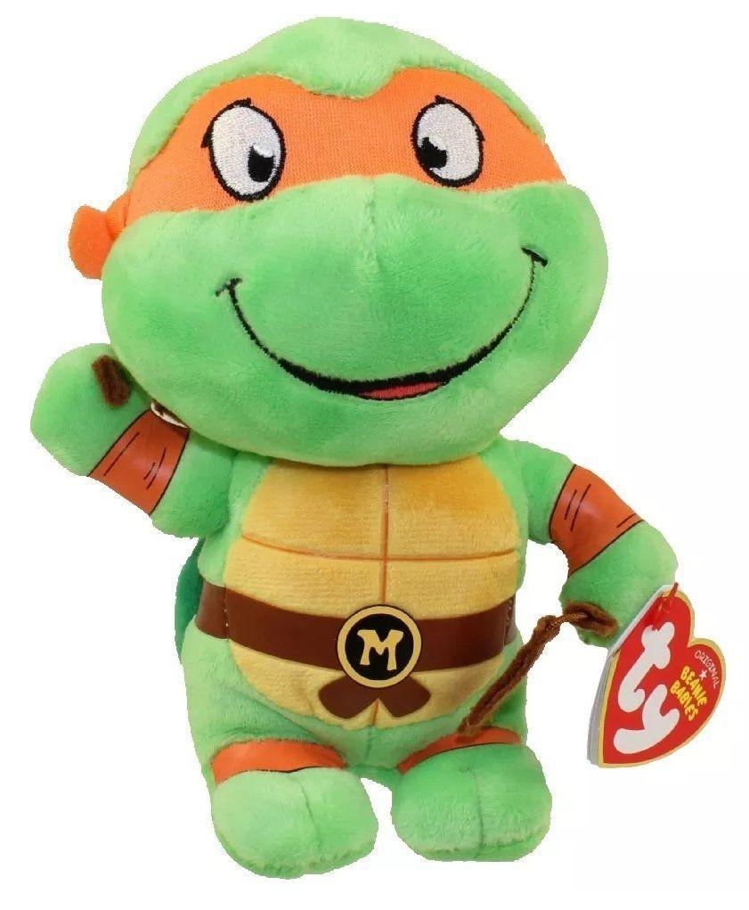 Pelúcia Michelangelo: Tartarugas Ninja (Ty Beanies) - DTC