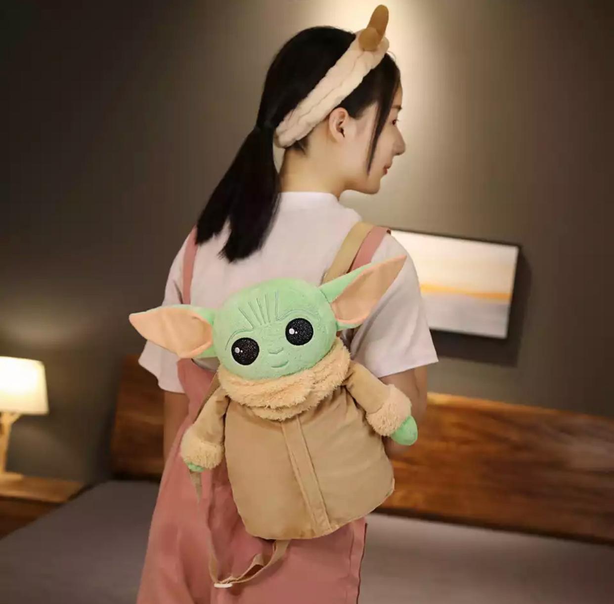 Pelúcia Mochila Bolsa Grogu Baby Yoda The Mandalorian - Star Wars - EV