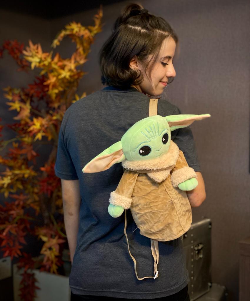 Pelúcia Mochila Bolsa Grogu Baby Yoda The Mandalorian - Star Wars