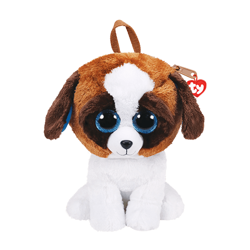 Pelucia Mochila Ducke (Cachorro): Beanie Boos - DTC