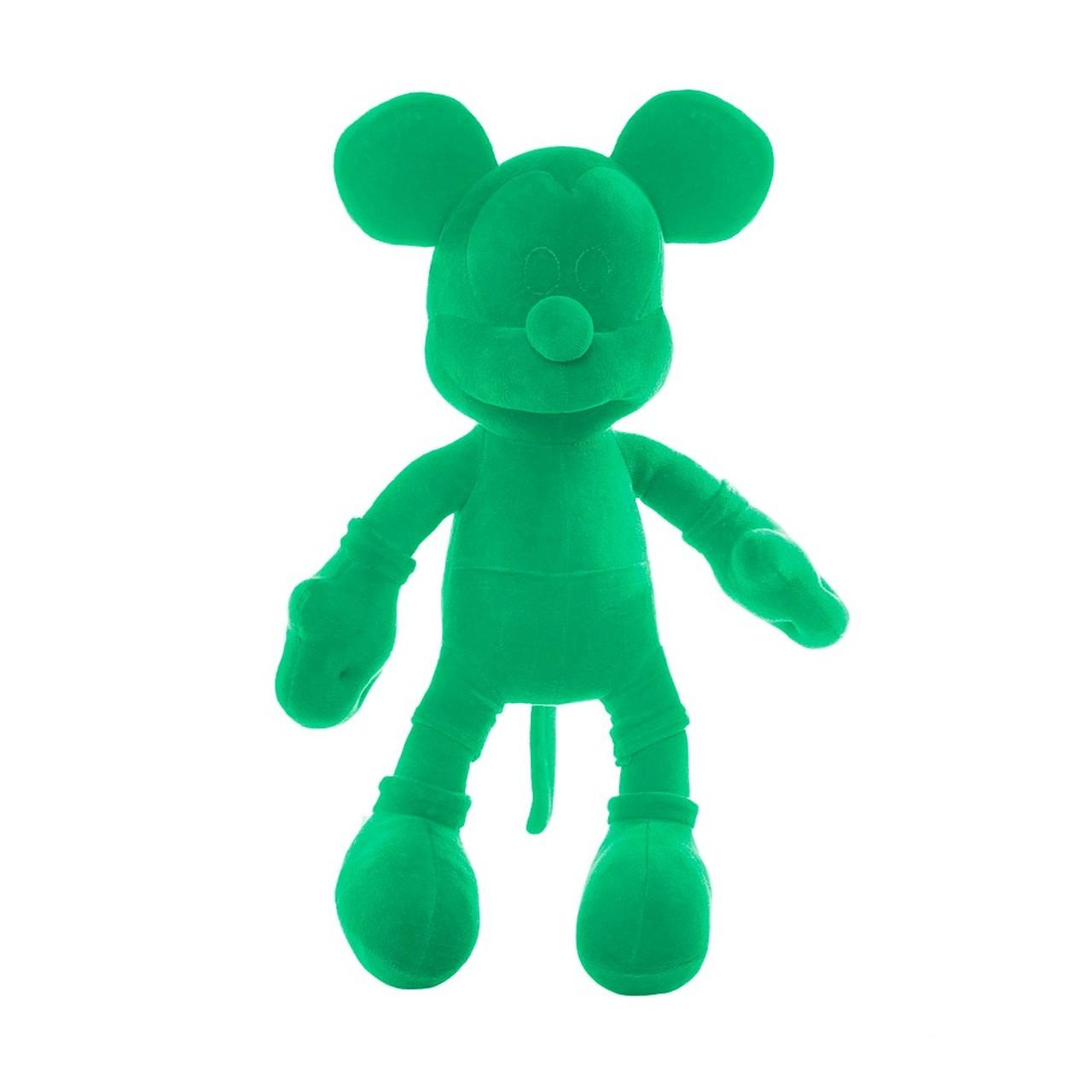 Pelúcia Monocromática (Verde) Mickey Mouse (Mickey e Minnie) Disney - Orientavida