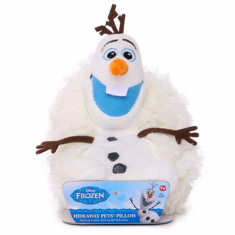 Pelúcia Olaf: Disney (Hideaway Pets Pillow) - DTC
