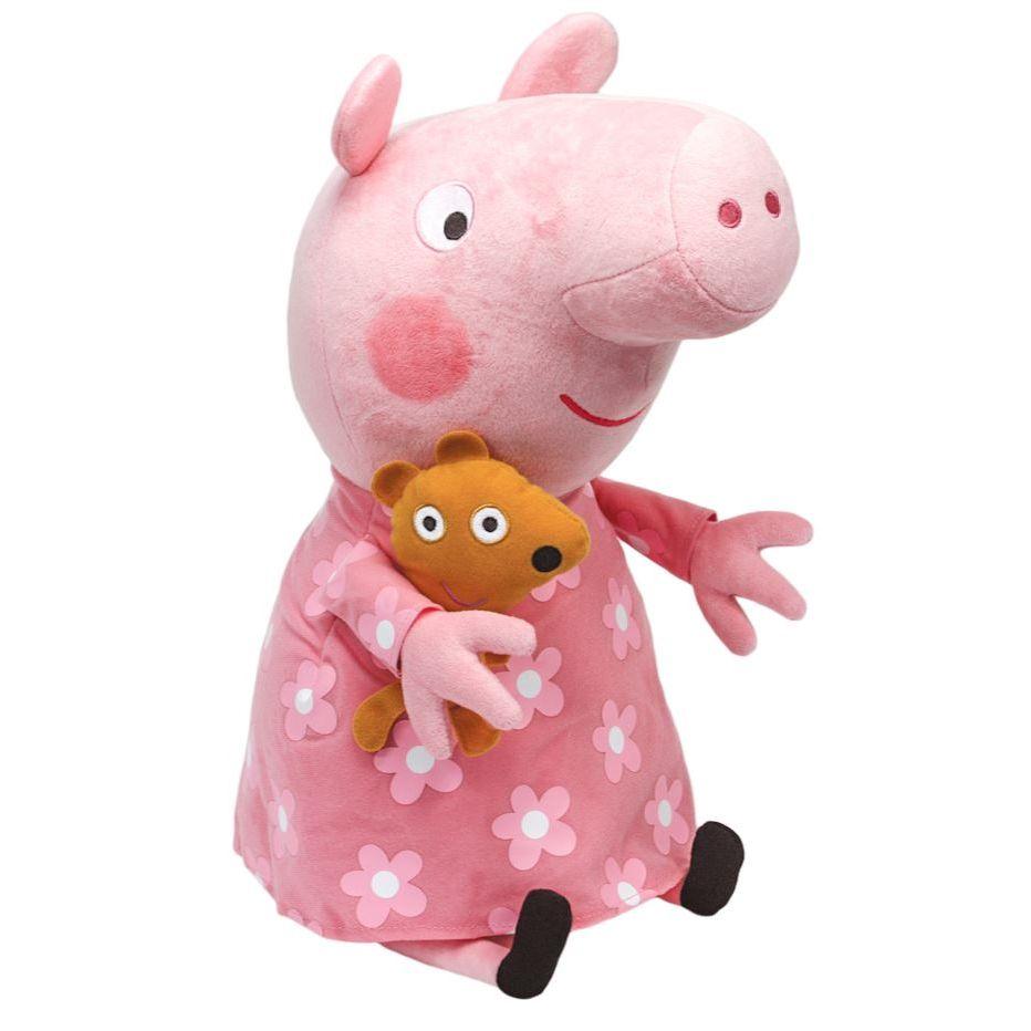 Pelúcia Peppa Pig (Rosa): Peppa Pig Ty Beanie Boos (Grande) - DTC