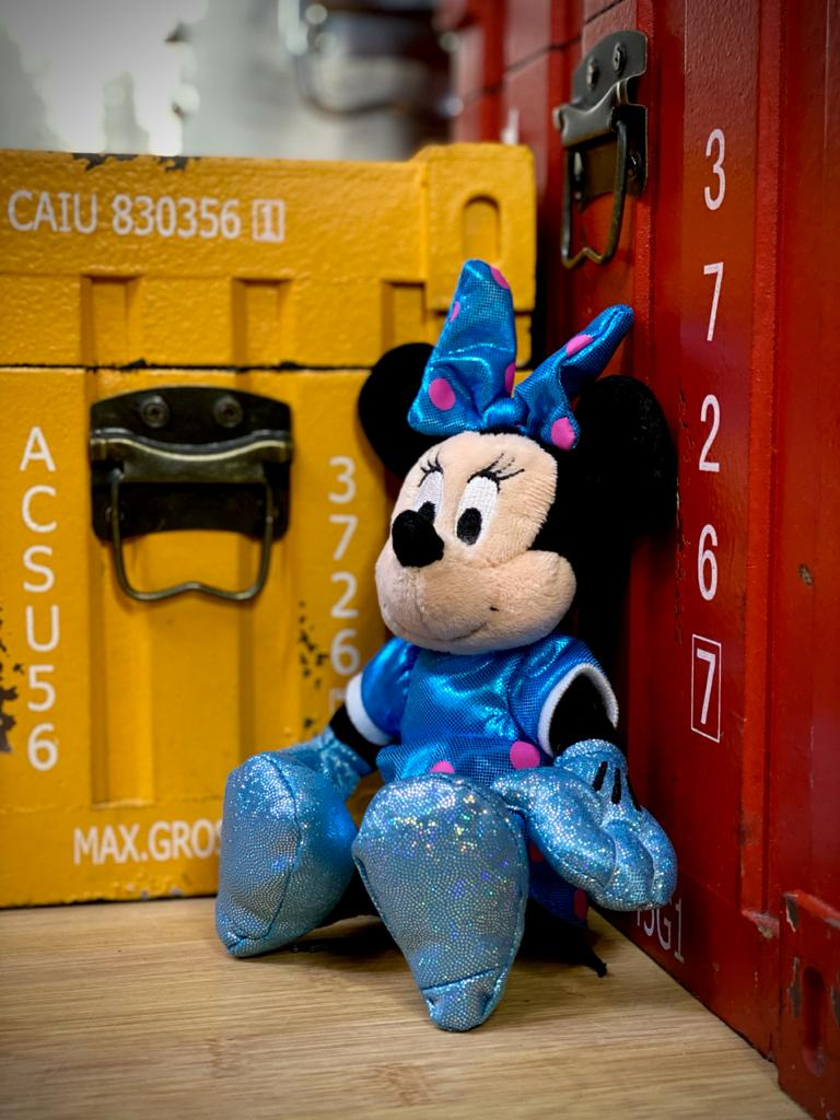 Pelúcia  Minnie Mouse: Vestido Azul Beanie Babies 15 cm - DTC