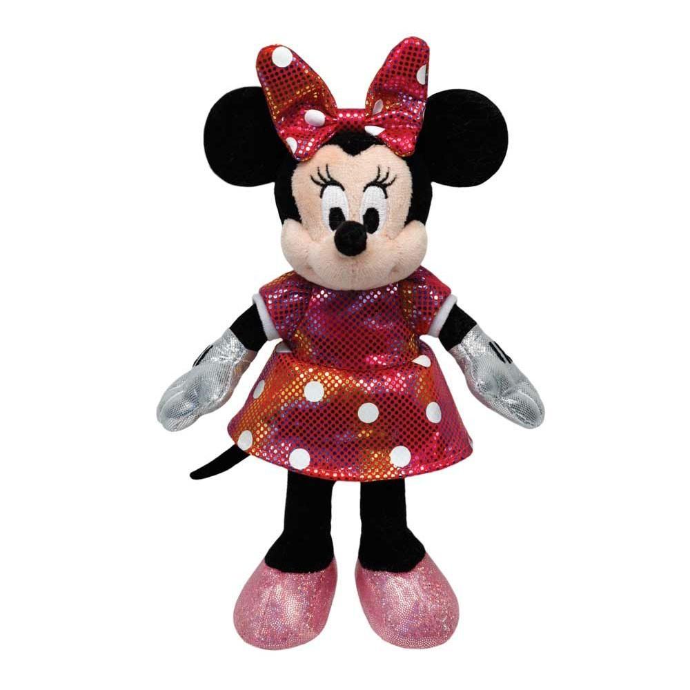 Pelúcia Pequena Minnie Mouse: Vestido Rosa Beanie Babies - DTC