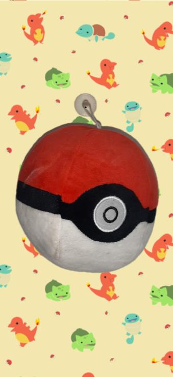 Pelúcia Pokebola Pikachu: Pokémon Com Ventosa e Som