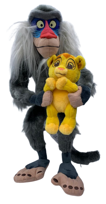 Pelúcia Rafiki Com Simba: Rei Leão - Disney