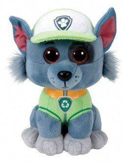 Pelúcia Rocky (Verde): Patrulha Canina Ty Beanie Boos (25cm) - DTC