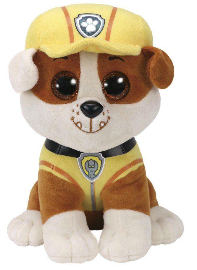 Pelúcia Rubble (Amarelo): Patrulha Canina Ty Beanie Boos (25cm) - DTC