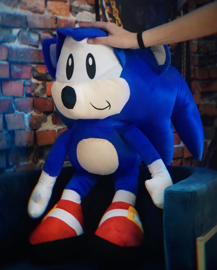 Pelúcia Sonic: Sonic The Hedgehog Grande (70cm) - EV