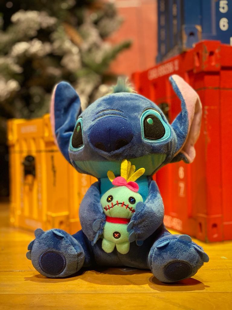 Pelúcia Stitch Com Boneca de Pano:Lilo e Stitch - Disney (25cm)