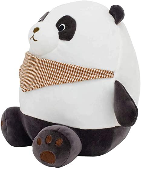 Pelúcia Ursinho Panda Sentado Com Lenço (28cm) (Médio)