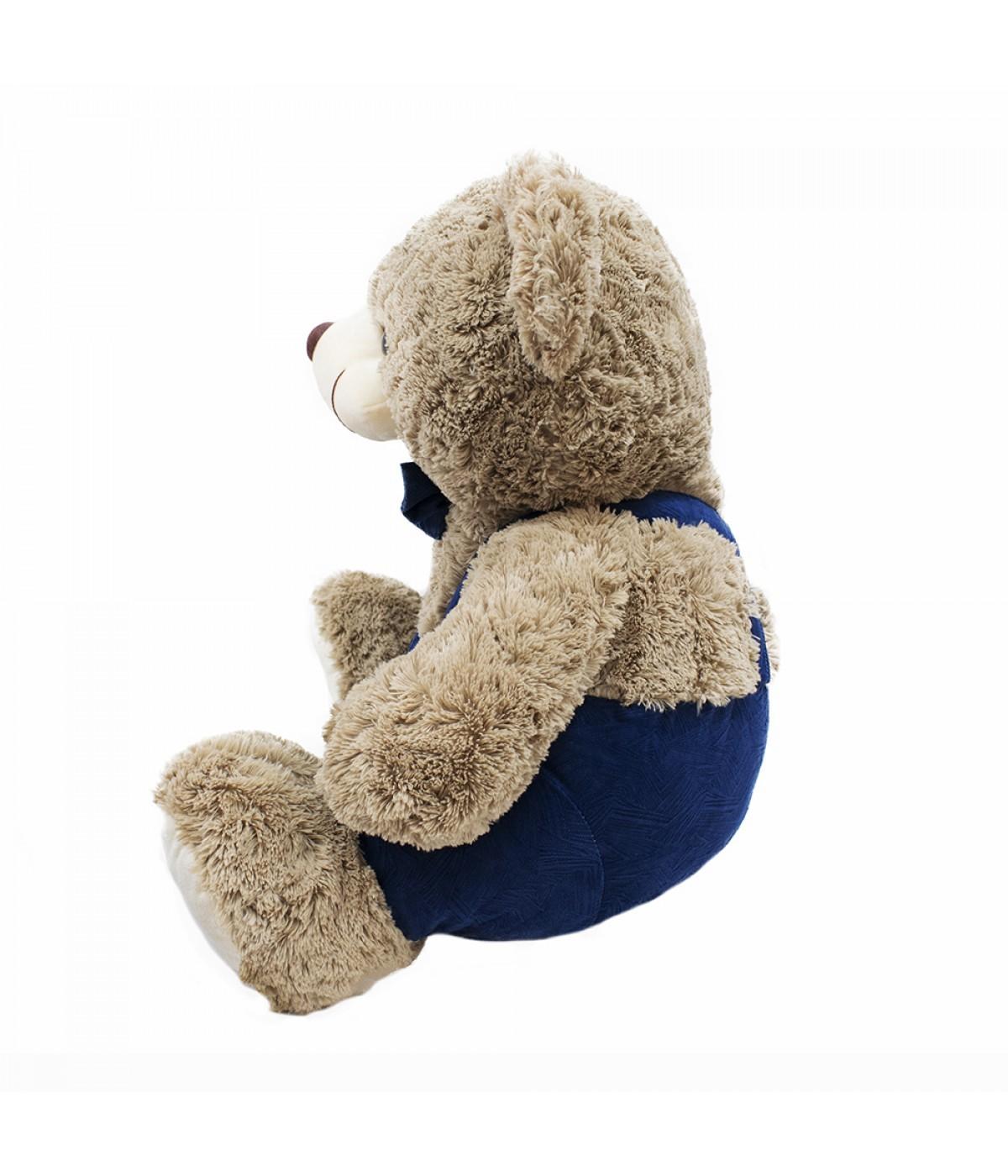 Pelúcia Urso Gravata e Suspensório (Grande) - 50cm