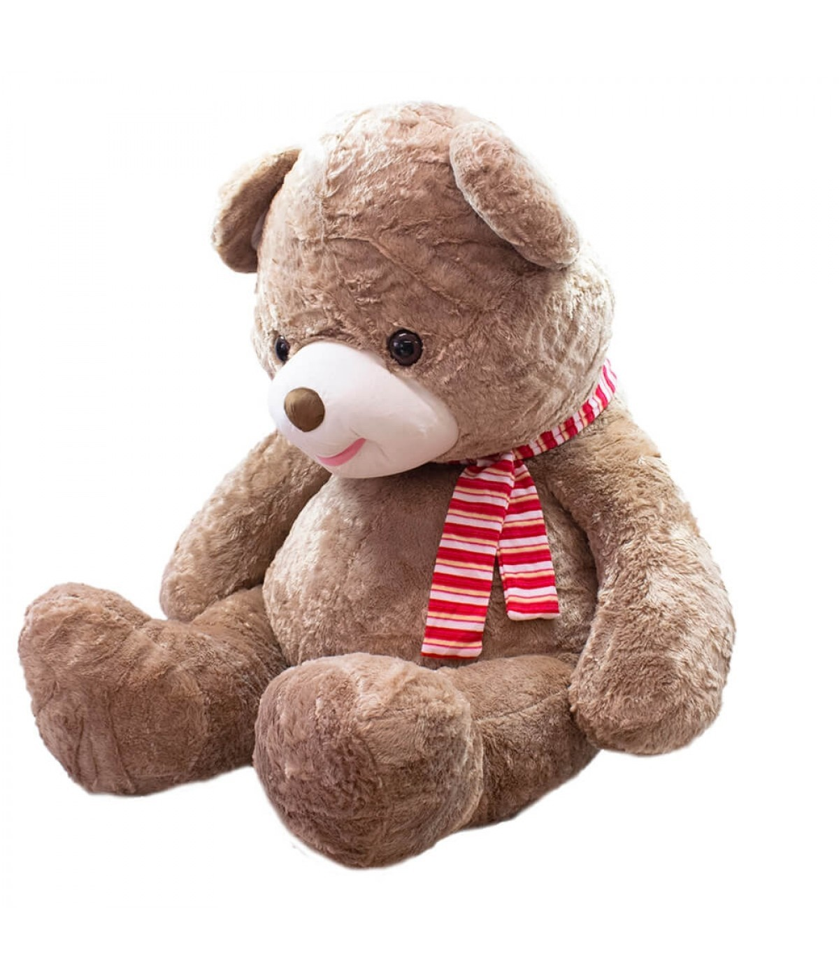 Pelúcia Urso Pardo Com Cachecol (94cm)