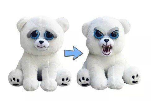 Pelúcia Urso Polar (Roni Raivoso): Feisty Pets (Bonzinho/Malzinho)