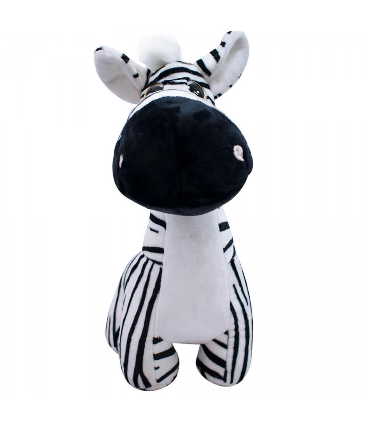 """Pelúcia Zebra """"Focinho Comprido"""" (36 cm) (Pequeno)"""
